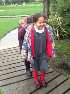 Ria enjoyed leading Yara on a secret woodland journey...