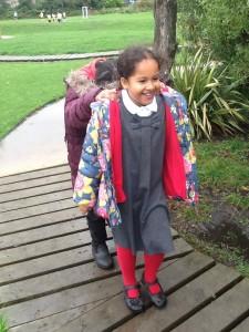 Ria enjoyed leading Yara on a secret woodland journey...