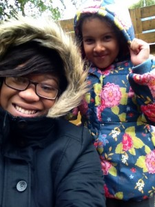 Miss Martin and Ria were certainly wrapped up warm!